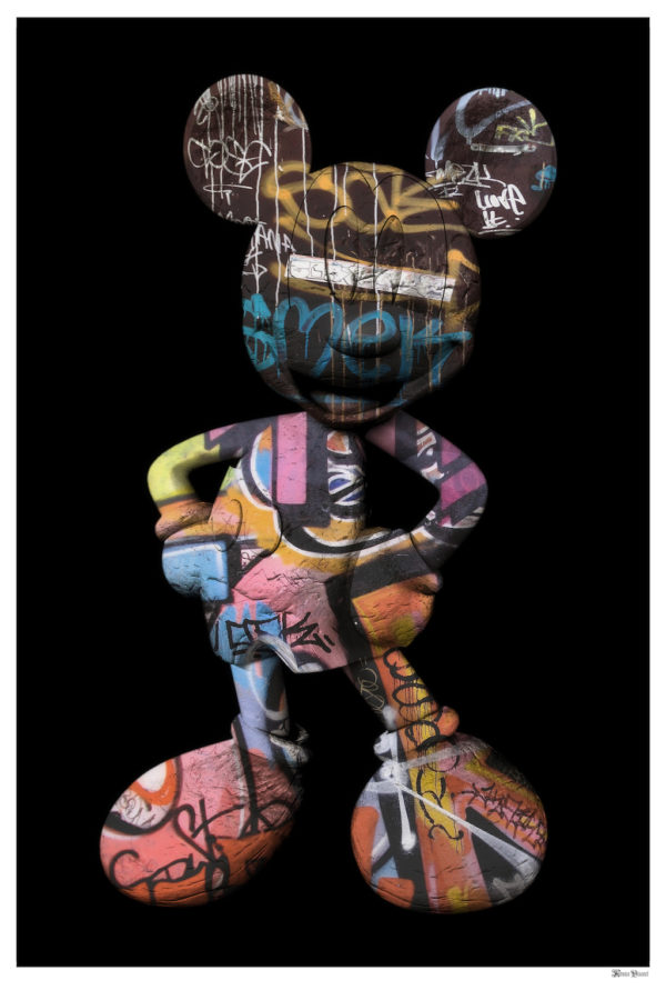 'Graffitti Mickey' (Large) by Monica Vincent
